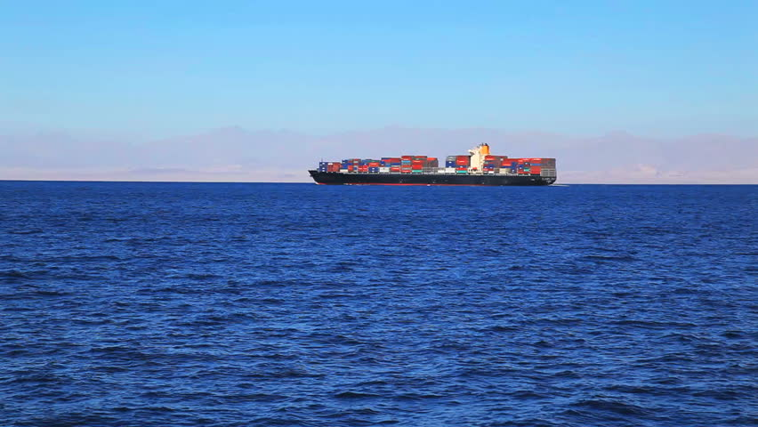 Cargo ships sailing in the suez canal in the red sea   Shutterstock HD Video #2241496