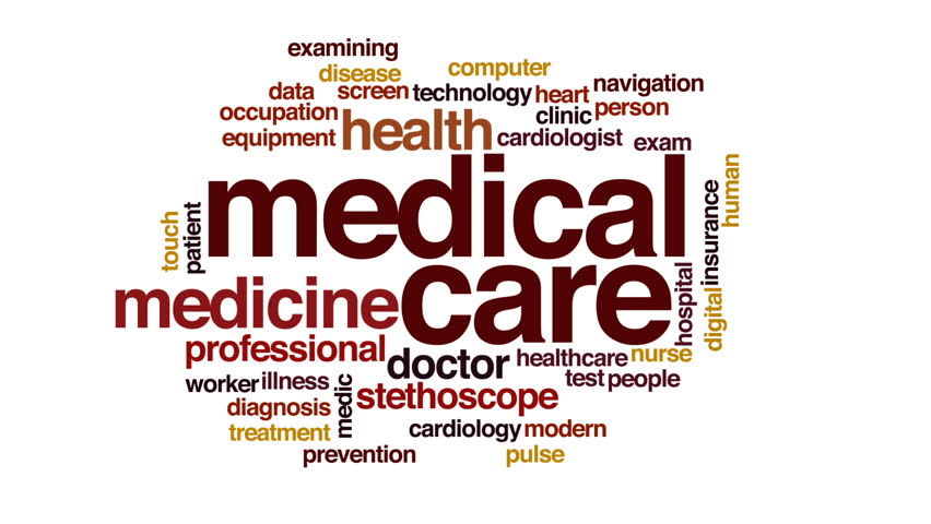 Medical care animated word cloud. | Shutterstock HD Video #22448503