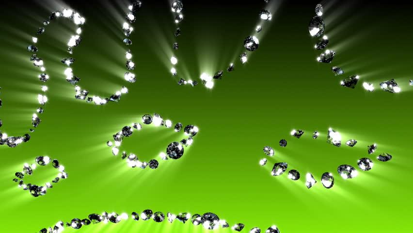 Diamond Crown - Diamond (HD) Glowing crown with looping diamonds. - HD stock footage clip