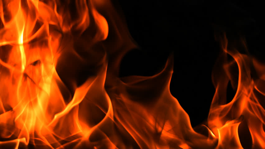 Campfire On Black Background 1080p Stock Footage Video
