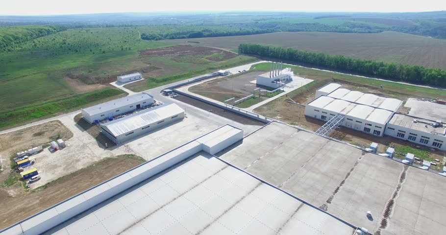 Aerial footage of a large industrial complex #22640032