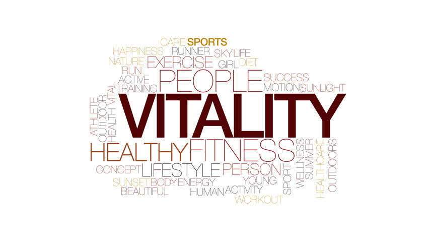 Vitality animated word cloud. Kinetic typography. | Shutterstock HD Video #22870495