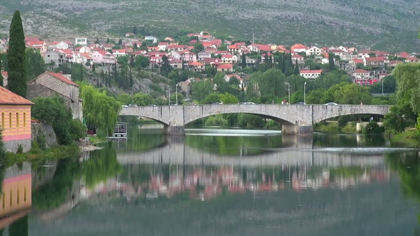 Nice view of the river, Trebinje, on July 3, 2015 | Shutterstock HD Video #22918168