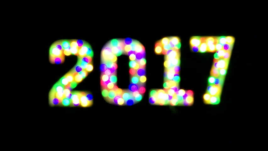 Colorful 2017 message on black background | Shutterstock HD Video #22969774