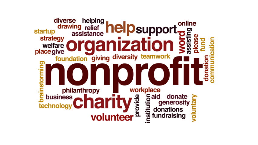 Nonprofit animated word cloud.