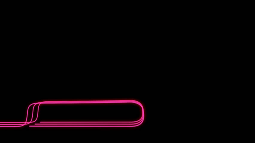 Neon Lines Lower Third + Alpha Channel | Shutterstock HD Video #23041729