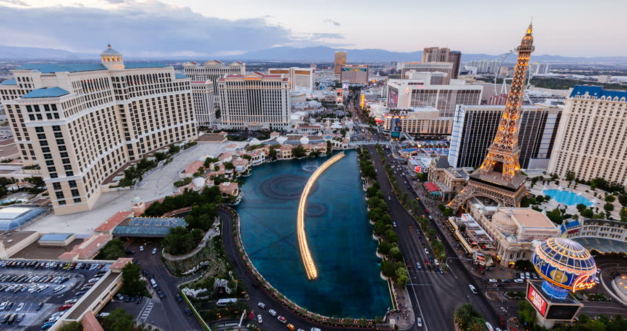 Las Vegas, USA - sunset to night Timelapse 4k | Shutterstock HD Video #23073706
