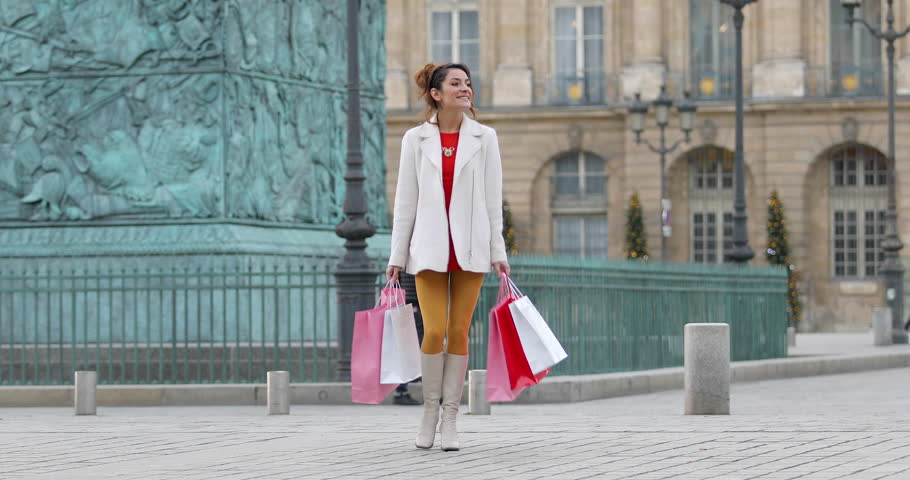 Paris, Woman shopping in Paris on place Vendome, 4K, UHD (3840X2160) | Shutterstock HD Video #23074480