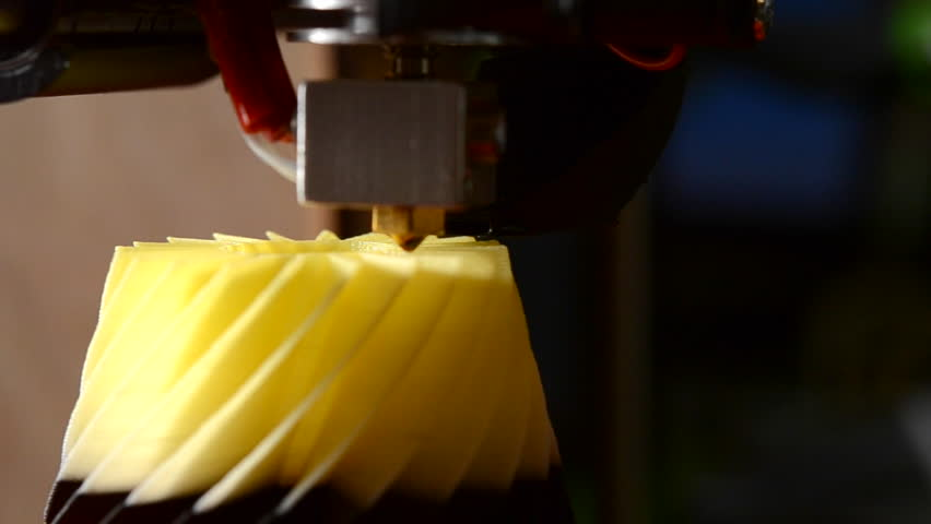 Printing on modern 3D printer from hot plastic isolated object close-up. Printing with Plastic Wire Filament. Modern 3d printing technology. Industrial technological background. Real time | Shutterstock HD Video #23082931