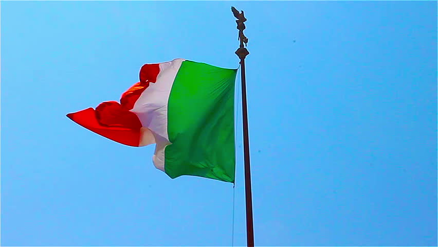 Red - white - green Italian flag, a national symbol of Italy   Shutterstock HD Video #23094919