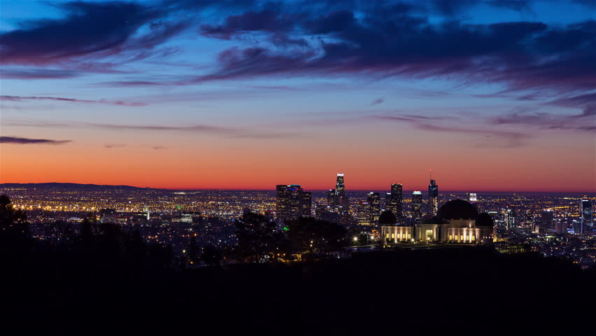 Los Angeles and Griffith Observatory Sunrise Timelapse | Shutterstock HD Video #23110723