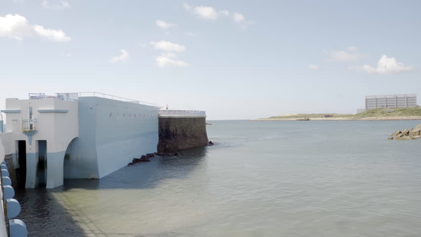 Calm ocean side scene Footage | Stock Clips