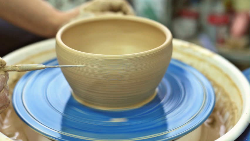 Education pottery. Making the bowl. Part 11. Final. | Shutterstock HD Video #23122333