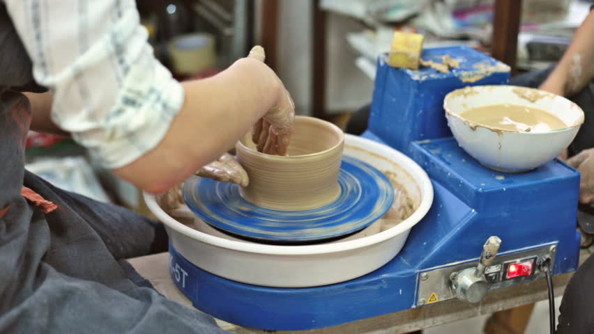 Education pottery. Making the bowl. Part 7. | Shutterstock HD Video #23123512