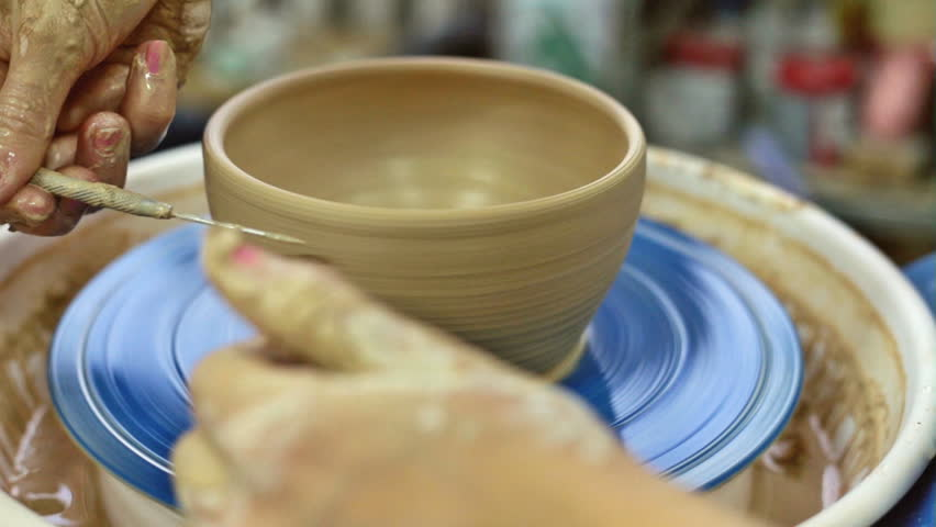 Education pottery. Making the bowl. Part 10. | Shutterstock HD Video #23124052