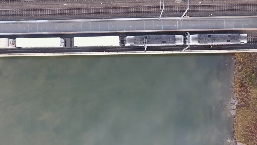 Train crossing the bridge in salzburg   Shutterstock HD Video #23152978