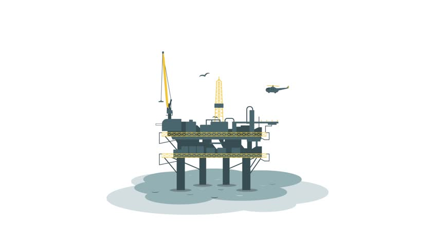 Oil platform. Animation with alpha channel | Shutterstock HD Video #23173876
