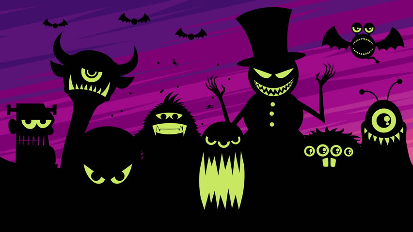 Looping animation with a bunch of monsters. | Shutterstock HD Video #23177521