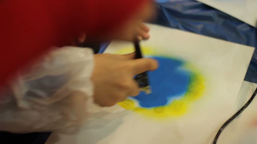 Spray art. close up of painting planet | Shutterstock HD Video #23179501