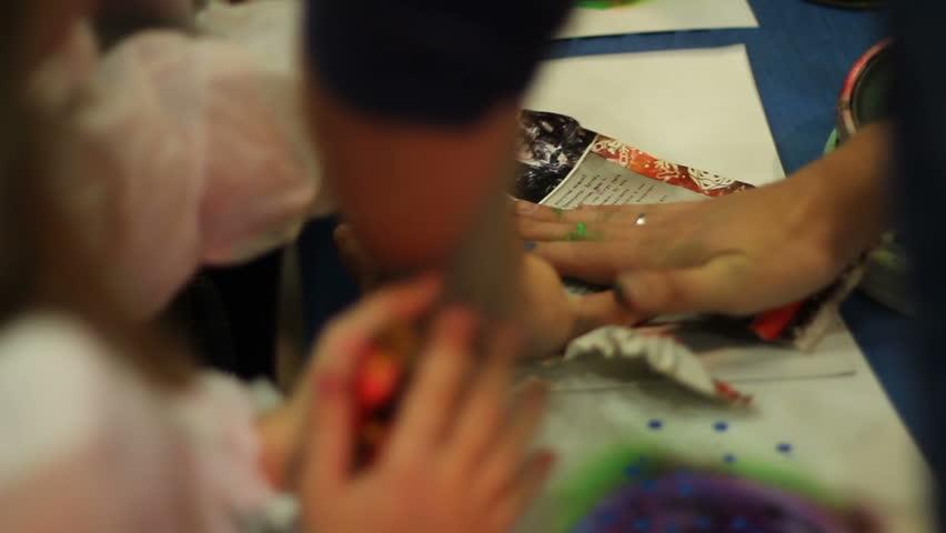 Children have a master class of spray art | Shutterstock HD Video #23179510