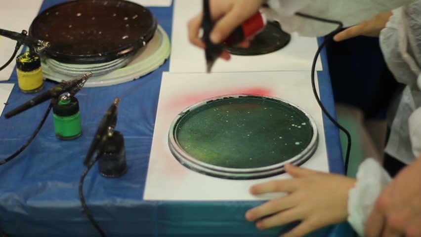 Spray art Master Class for ghildren | Shutterstock HD Video #23179519