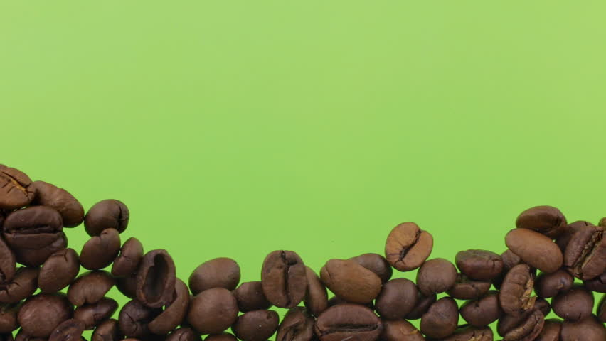 Coffee beans close the (to bury) green screen. | Shutterstock HD Video #23213224