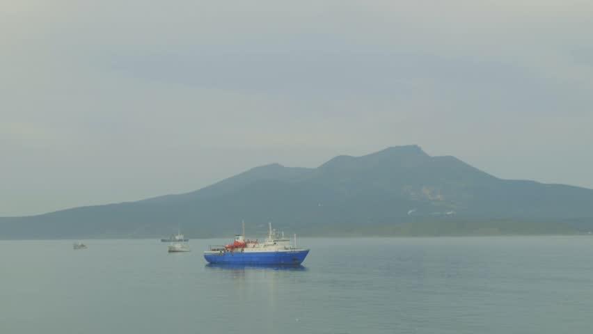 Ships Kunashir Island/ships Kunashir Island | Shutterstock HD Video #23213620