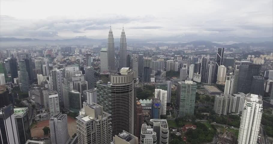 Aerial View of Kuala Lumpur Skyline, Malaysia | Shutterstock HD Video #23242069