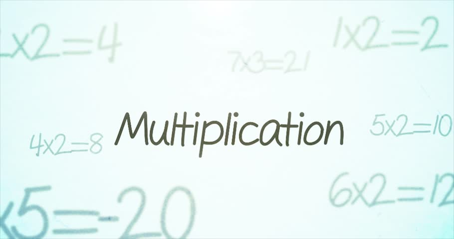 Camera pans over mathematics terminology   Multiplication | Shutterstock HD Video #23355559