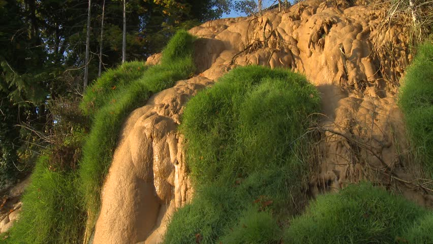 Natural hot springs, heavy calcite deposits #1  ca.2015 rural British Columbia | Shutterstock HD Video #23503816