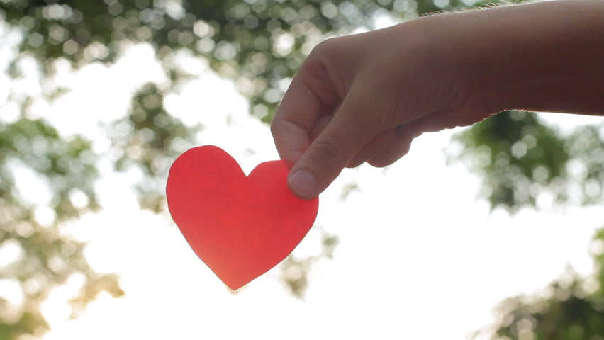 Image result for child paper heart outdoors