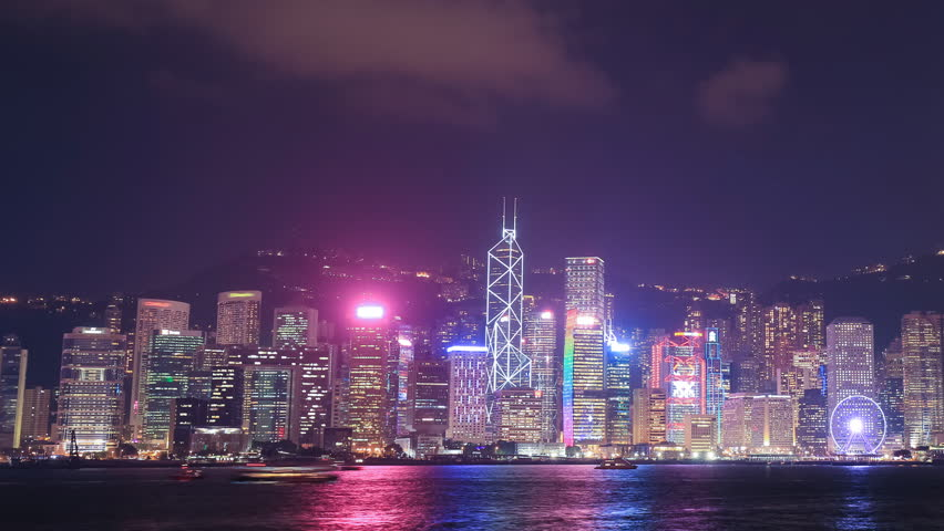 Time-lapse of Hong Kong city, view from Victoria Harbour | Shutterstock HD Video #23530087