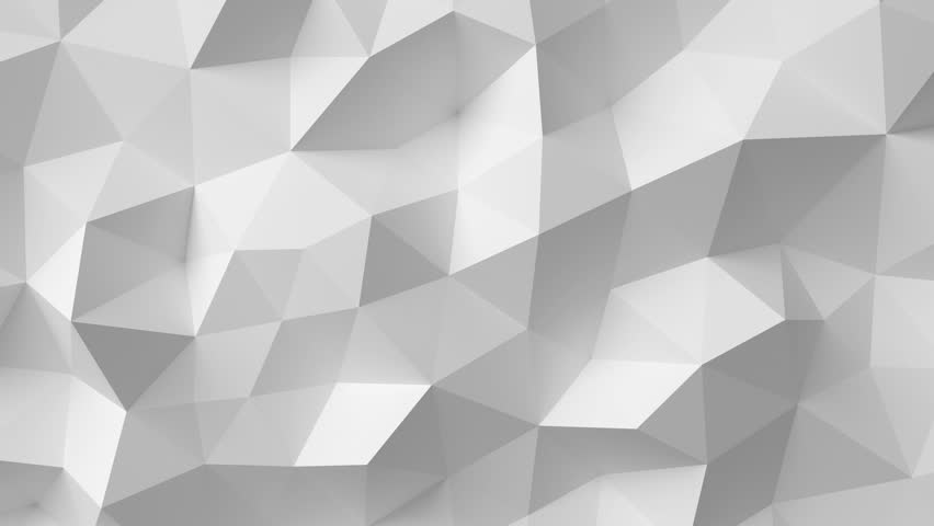 Beautiful White Polygonal Surface Moving in Seamless 3d animation. Abstract Motion Design Background in 4k. Computer Generated Process. Ultra HD 3840x2160. | Shutterstock HD Video #23546809
