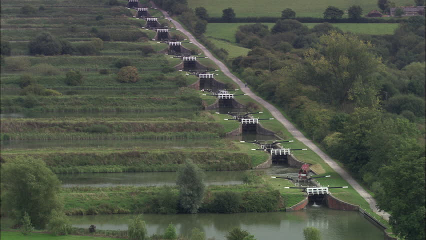 Caenhill Flight Of Locks On Kennet And Avon Canal | Shutterstock HD Video #23697523
