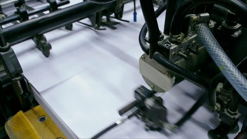 Industrial printing machine working in printing house   Shutterstock HD Video #23892742