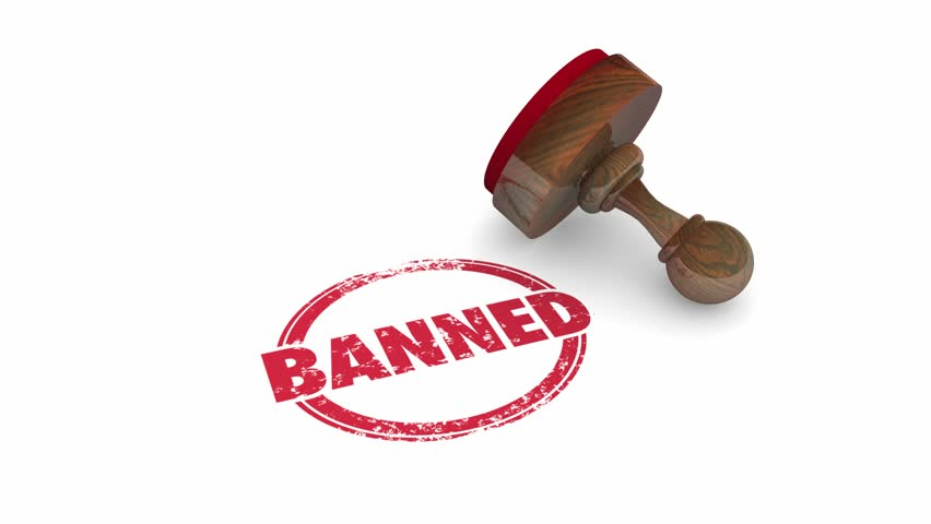 Banned Forbidden Illegal Not Allowed Stamp Word 3d Animation | Shutterstock HD Video #23978746