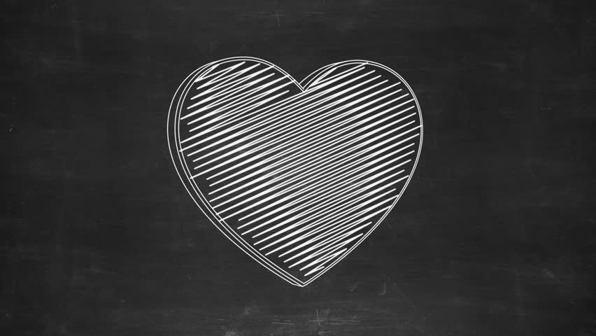 Hand drawn heart symbol rotating on the black chalkboard. Seamless loop animation. More symbols and color options available in my portfolio. | Shutterstock HD Video #24019228