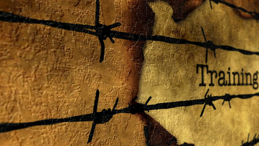 Training text against barbwire | Shutterstock HD Video #24035230