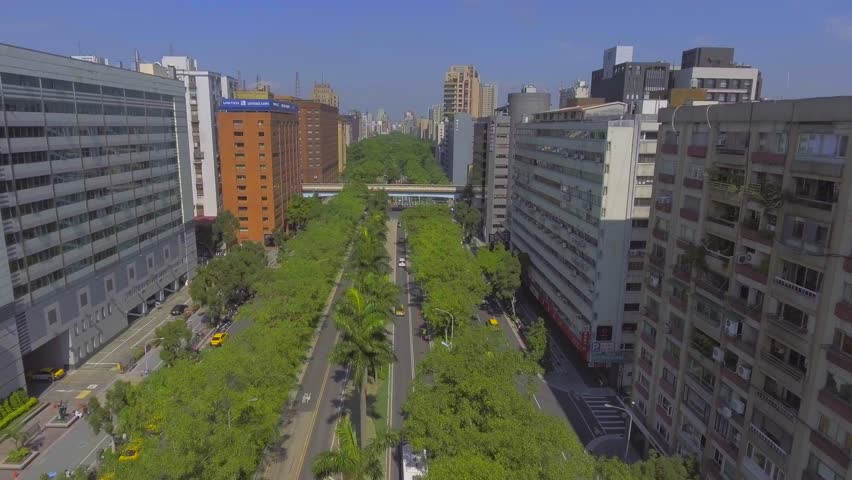Taipei city transportation aerial view | Shutterstock HD Video #24044275