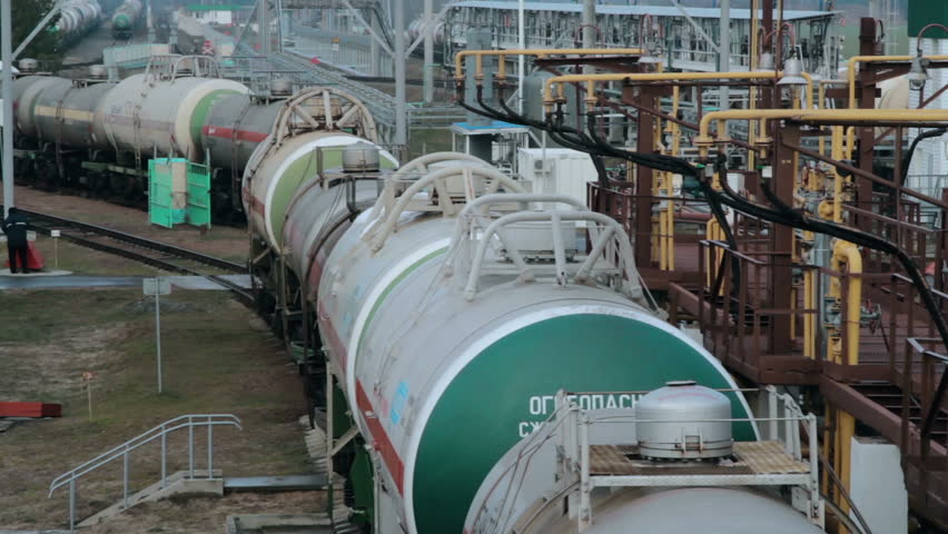 Railway tanks for the transportation of liquefied natural gas lpg | Shutterstock HD Video #24103252