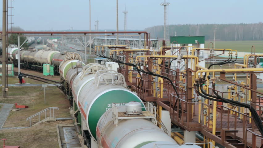 Railway tanks for the transportation of liquefied natural gas lpg | Shutterstock HD Video #24103279