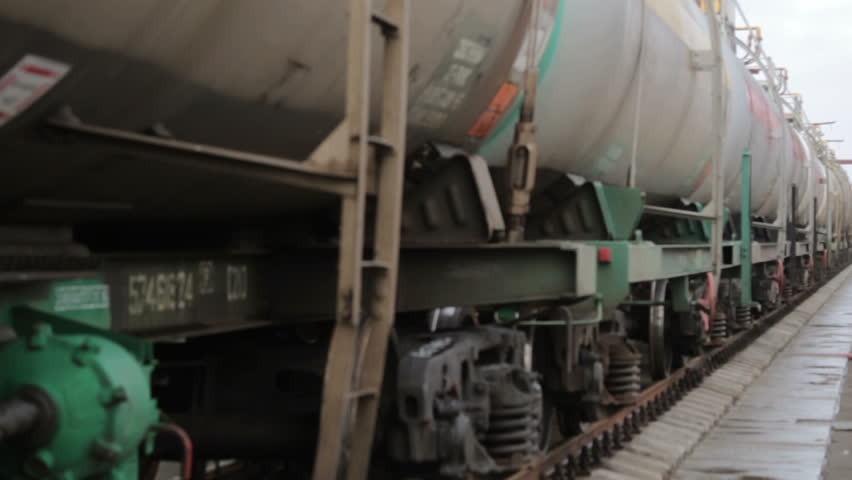 Railway tanks for the transportation of liquefied natural gas lpg | Shutterstock HD Video #24103288