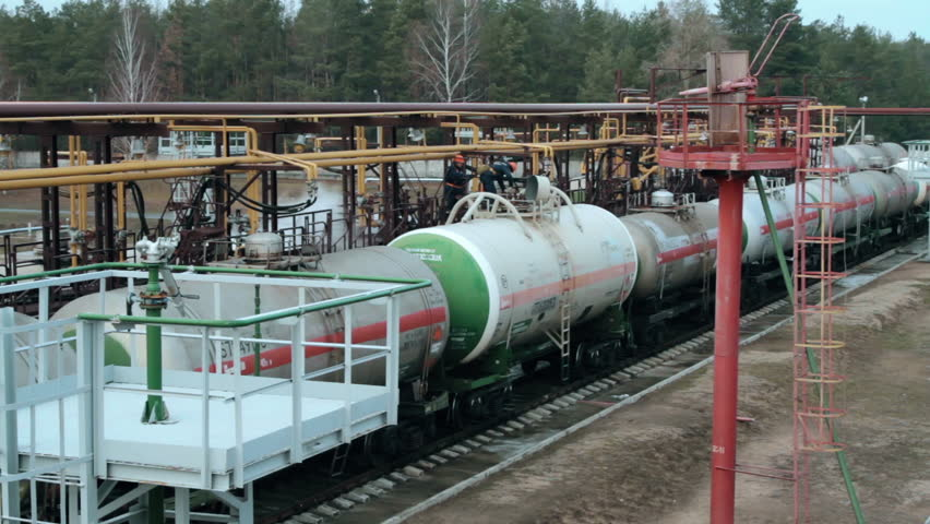 Railway tanks for the transportation of liquefied natural gas lpg | Shutterstock HD Video #24103297
