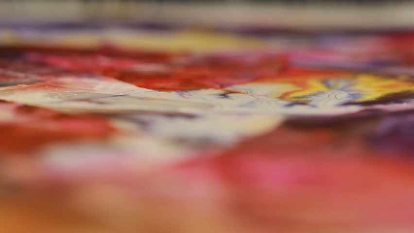 Artist in her art studio paint brushes and ink paintings | Shutterstock HD Video #24113143
