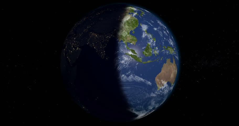Planet Earth orbiting in 4K, looped, day and night, 3D animation, alpha | Shutterstock HD Video #24119542