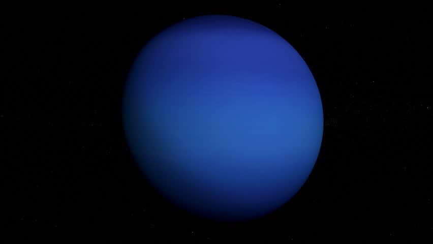 Planet Neptune orbiting, looped, solar system, 3D animation, alpha | Shutterstock HD Video #24119551