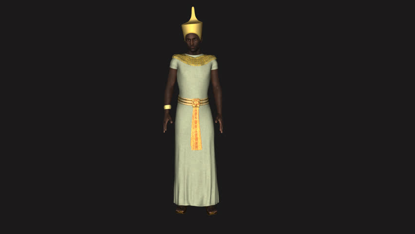 Alpha channel, Pharaoh of Egypt,l oop, animation | Shutterstock HD Video #24120793