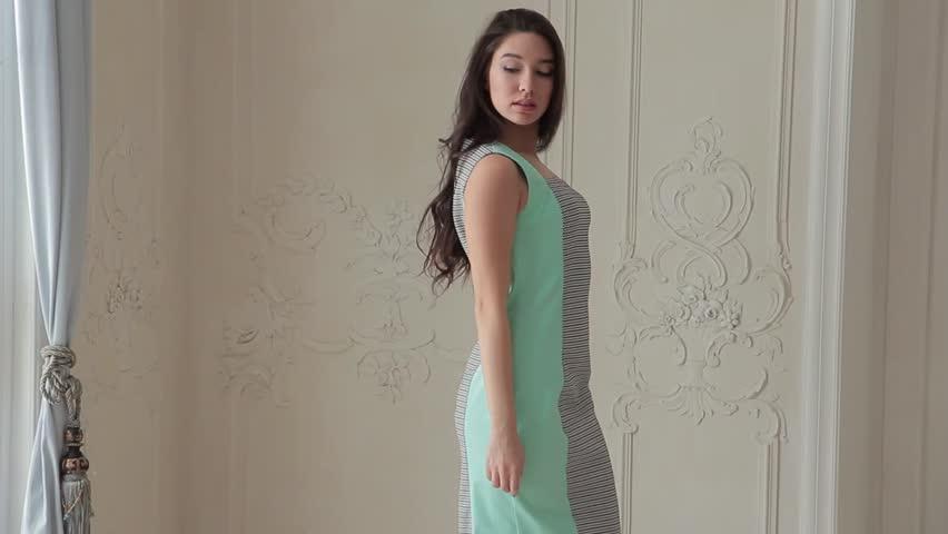 Asian fashion model posing in dress   Shutterstock HD Video #24122701