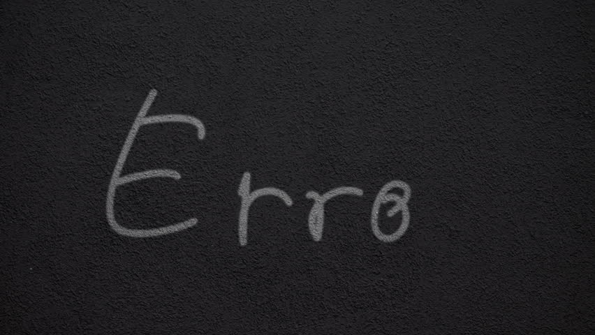 "Handwritten word ""Error"" on a dark wall 