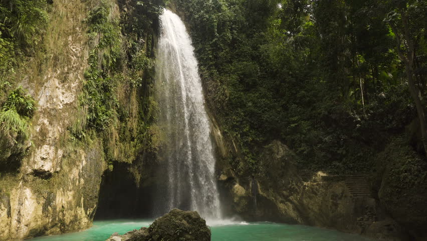Tropical rain forest with waterfall. Philippines, Cebu. 4K video. Travel concept.   Shutterstock HD Video #24130927